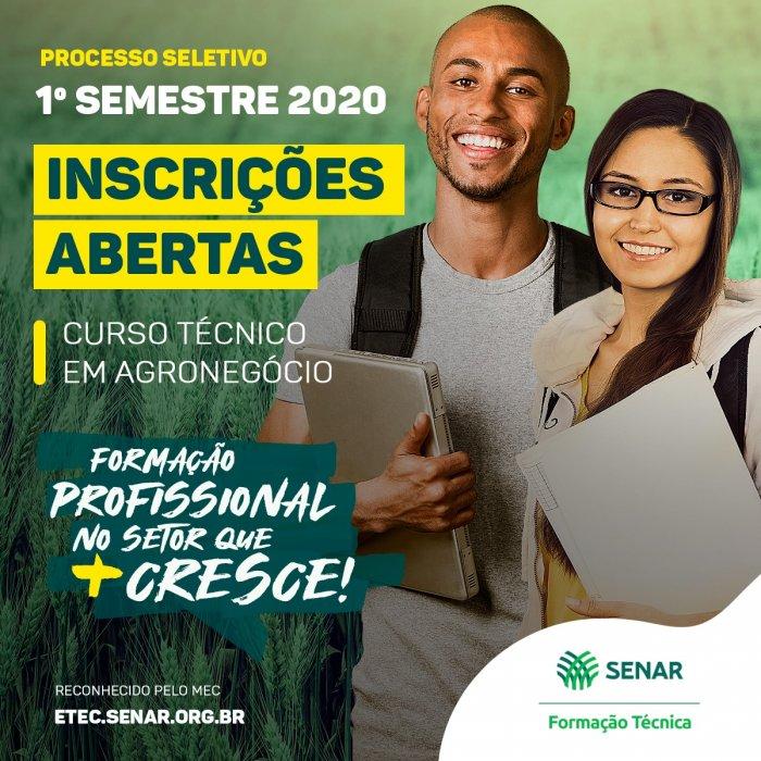 SENAR divulga regulamento de classificação do processo seletivo do Curso Técnico em Agronegócios para o Amazonas
