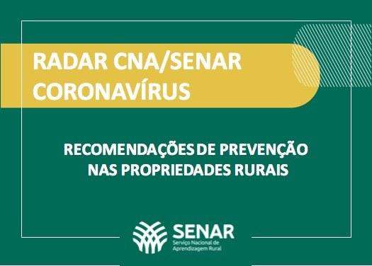 Senar, Mapa e Ministério da Saúde lançam medidas de prevenção ao coronavírus no meio rural