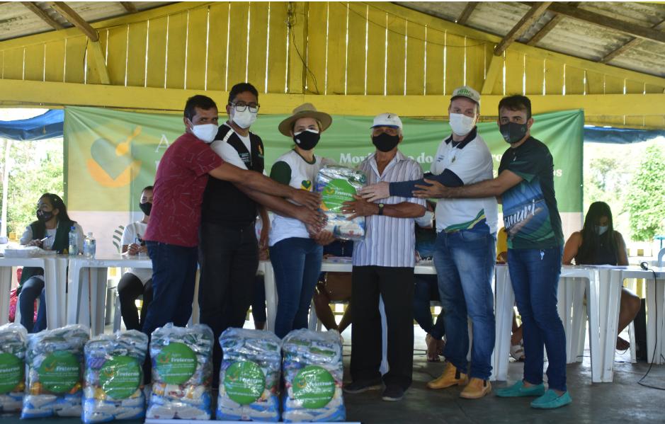 FAEA e SENAR concluem distribuição de 4.000 mil cestas do Agro Fraterno no Amazonas
