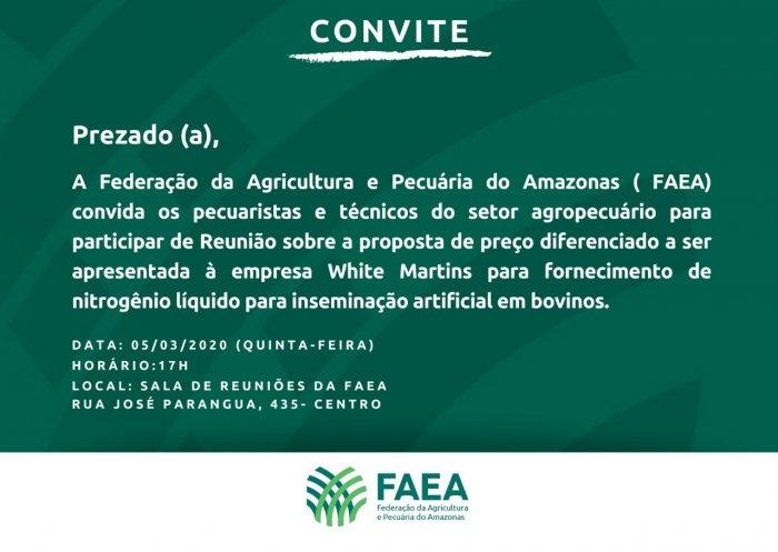 FAEA convida pecuaristas e técnicos do setor agropecuário para reunião