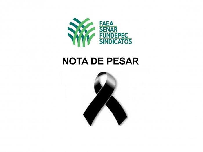 NOTA DE PESAR: Sistema FAEA SENAR FUNDEPEC-AM presta condolências à família e amigos do ex-secretário executivo de pesca e aquicultura do Amazonas, Geraldo Bernardino